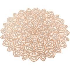 Набор 6 сервировочных ковриков Margrese Хризантема Ø38см (подтарельники), розовое золото - купить в магазине Plus-Plus по цене 415 грн.