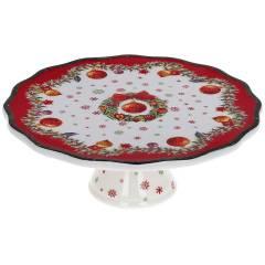 """Подставка для торта """"Рождественский орнамент"""" 20.5см, фарфор - купить в магазине Plus-Plus по цене 489 грн."""