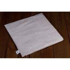 Льняной коврик на авто/офисное сидение (со съёмным чехлом) размер 45х45 см., серый - купить в магазине ЛинТекс по цене 455 грн.