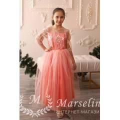 Нарядное платье для девочки в Пол в Двух Цветах - купить в магазине Marselin по цене 620 грн.