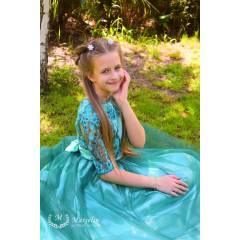 Праздничное платье для Девочки в Пол Кружево Атлас Фатин - купить в магазине Marselin по цене 680 грн.