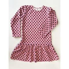 Трикотажное платье для Девочки с длинным рукавом Горошек - купить в магазине Marselin по цене 315 грн.