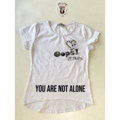 Летняя белая футболка для Девочки - купить в магазине Marselin по цене 180 грн.